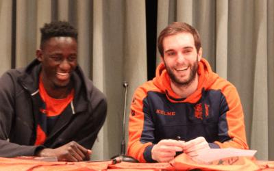 BASKONIA | Visita de Ilimane Diop e Ivan Martinez